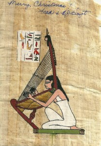 A papyrus used as  greeting card. Photo courtesy of Nathan Hughes Hamilton @Flickr