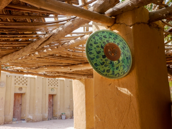 Artistic locally made pottery from Tunis Village. Photo courtesy of Dan Mason.
