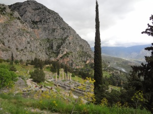 Visiting mountainous Delphi ©