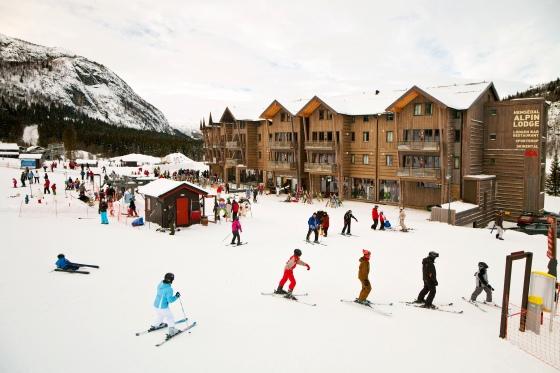 A ski lodge. Photo by SkiStar.