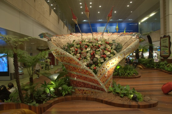 An indoor garden in Changi Airport. Photo by Eustaquio Santimano.