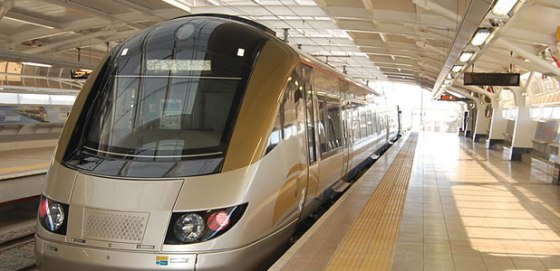 The Gautrain high speed train at OR Tambo airport. Photo courtesy of www.johannesburg-airport.com