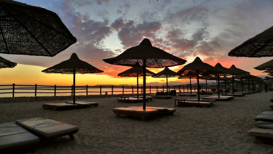 Heavenly sunset at Sharm El Sheikh. Photo by Armin Rodler.