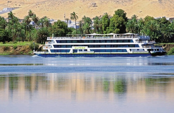 A cruise ship sailing through the Nile. From Memphis Tours official website.