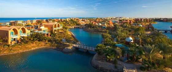 Bird's eye view at El Gouna from their official website.